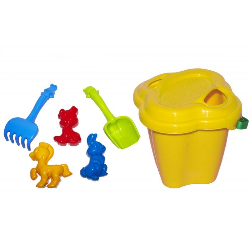 """Песочный набор """"Колокольчик"""" №1 (желтый) 0978 купить в магазине """"Пустун"""""""