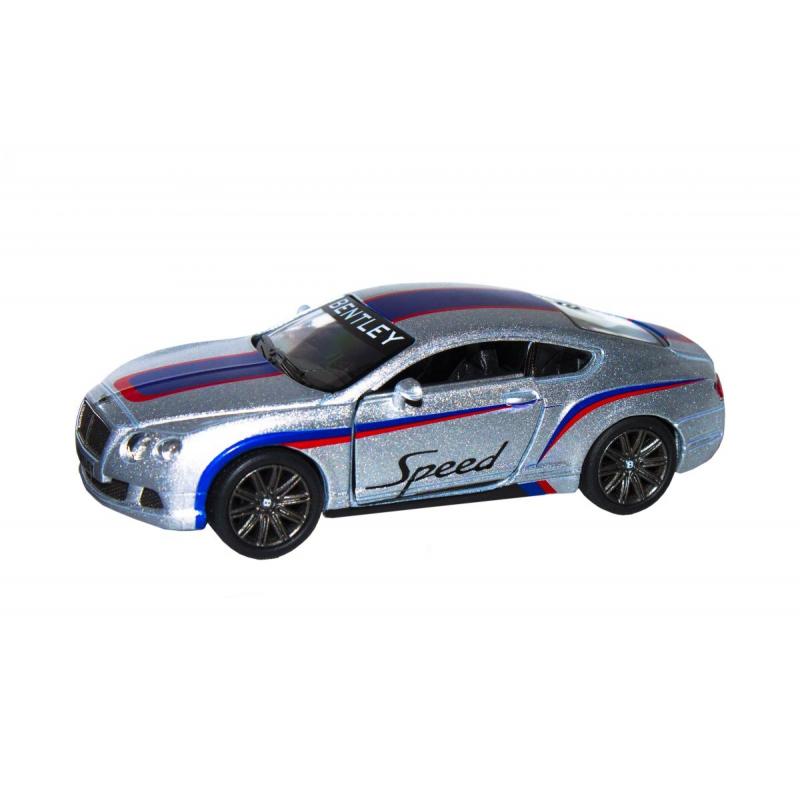 """Машинка KINSMART Bentley Continental GT (серебристая) купить в магазине """"Пустун"""""""