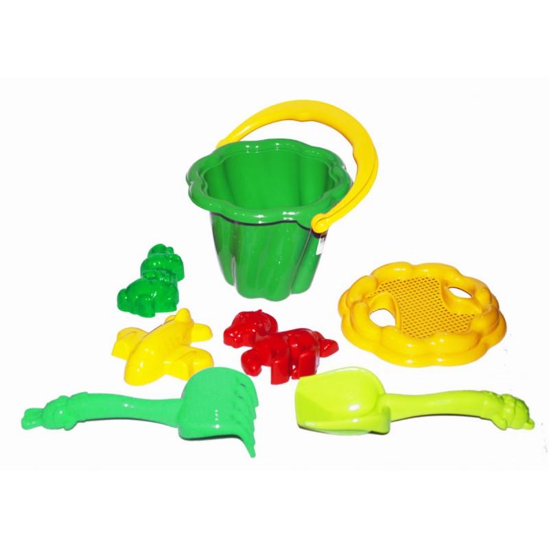 """Песочный набор """"Ромашка"""" №1 (зеленый) 1098 купить в магазине """"Пустун"""""""