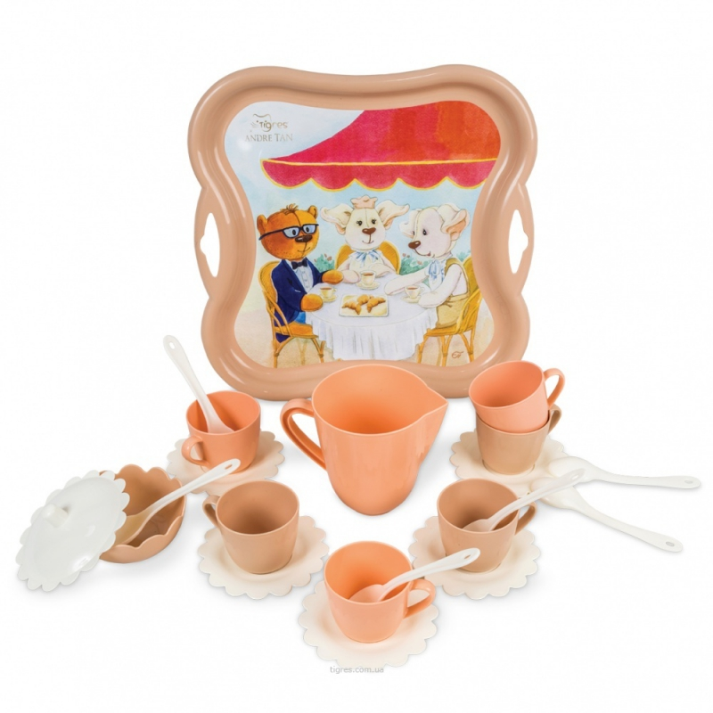 """Набор посуды TIGRES Модное чаепитие 22 элемента (39410) купить в магазине """"Пустун"""""""