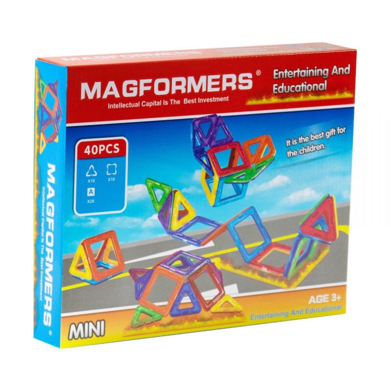 """Магнитный конструктор """"Magformers"""" (40 дет) 008A купить в магазине """"Пустун"""""""
