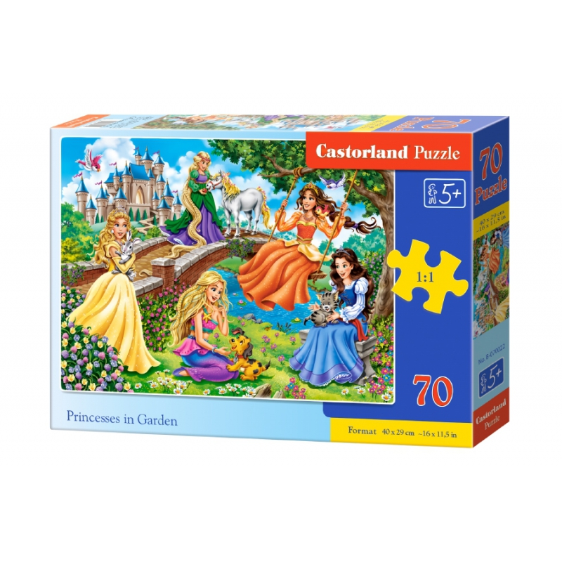 """Пазлы Принцессы в саду, 70 элементов купить в магазине """"Пустун"""""""