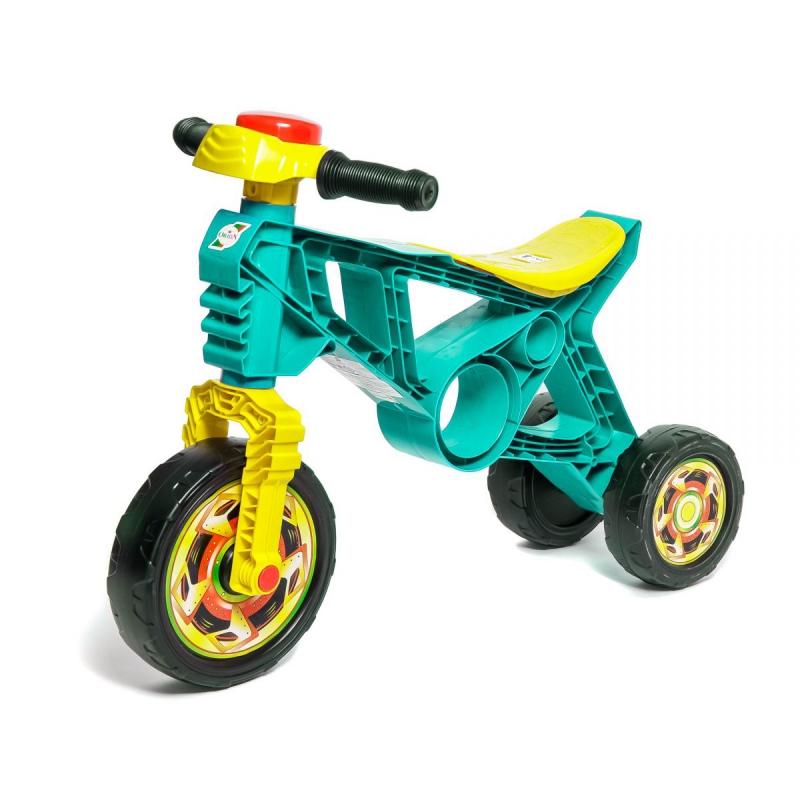 """Мотоцикл пластиковый """"Беговел"""" (бирюзовый) 171_Б купить в магазине """"Пустун"""""""