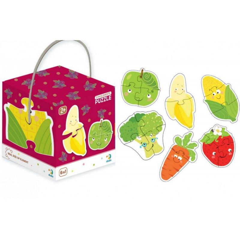 """Пазлы """"Фрукты и овощи"""" (6 пазлов) 300155 купить в магазине """"Пустун"""""""