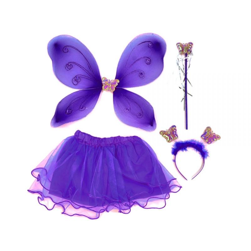 """Карнавальный костюм """"Волшебная бабочка"""" (фиолетовый) C31247 купить в магазине """"Пустун"""""""