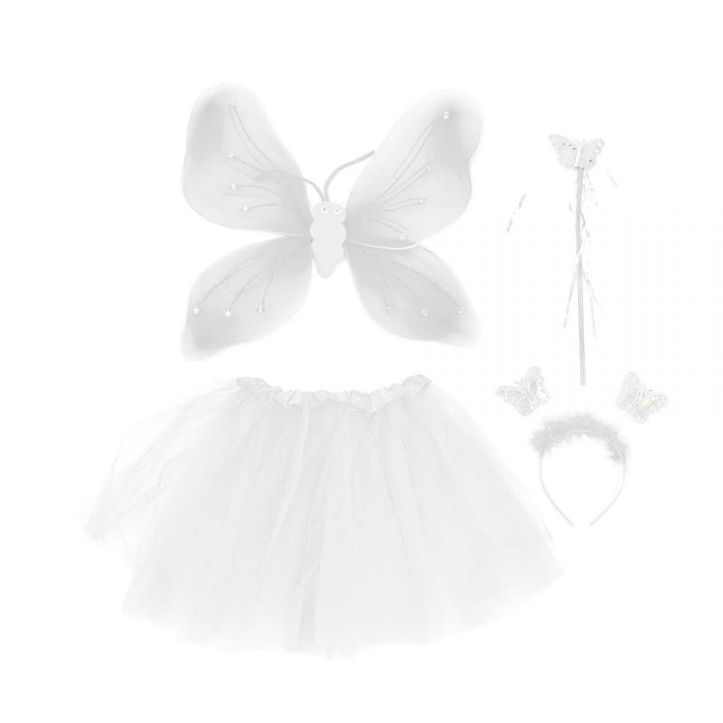 """Карнавальный костюм """"Бабочка"""" (белый) C31245 купить в магазине """"Пустун"""""""