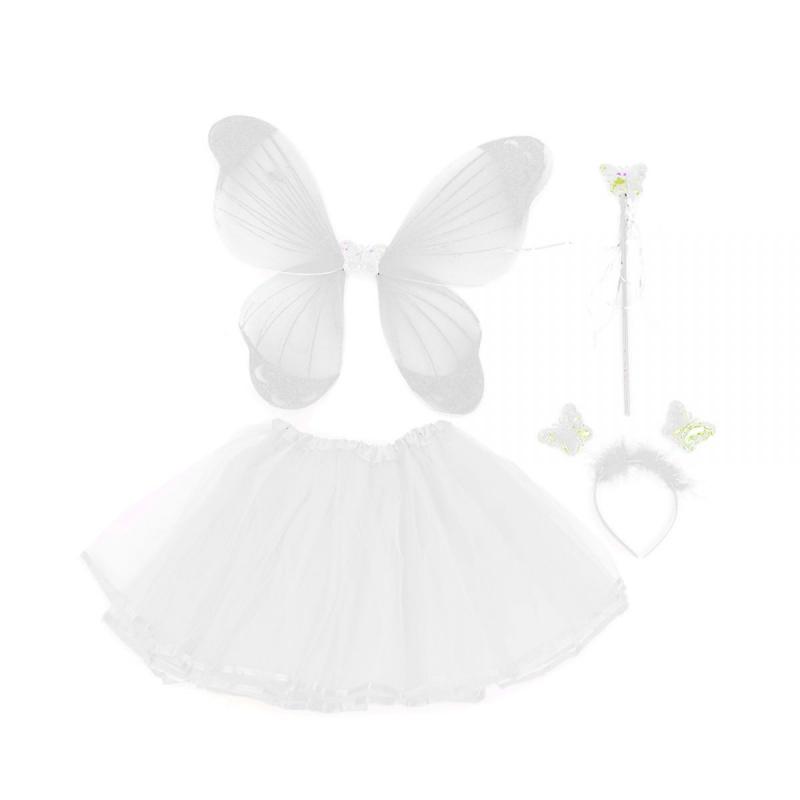 """Карнавальный костюм """"Прекрасная бабочка"""" (белый) C31246 купить в магазине """"Пустун"""""""