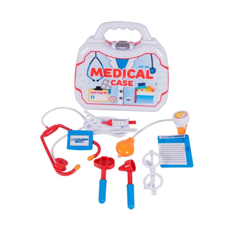 """Докторский набор в чемоданчике """"Medical Set"""" (12 предметов) 182 купить в магазине """"Пустун"""""""