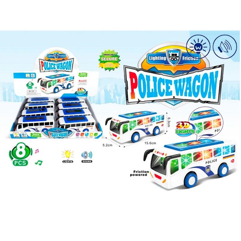 """Инерционная машинка Полицейский автобус купить в магазине """"Пустун"""""""