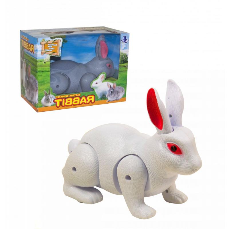 """Кролик на батарейках белый купить в магазине """"Пустун"""""""