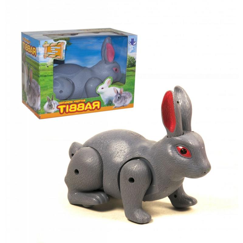 """Кролик на батарейках серый купить в магазине """"Пустун"""""""