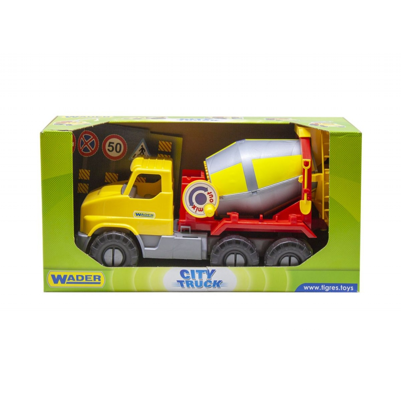 """Игрушечный грузовик TIGRES City Truck бетономешалка (39365) купить в магазине """"Пустун"""""""