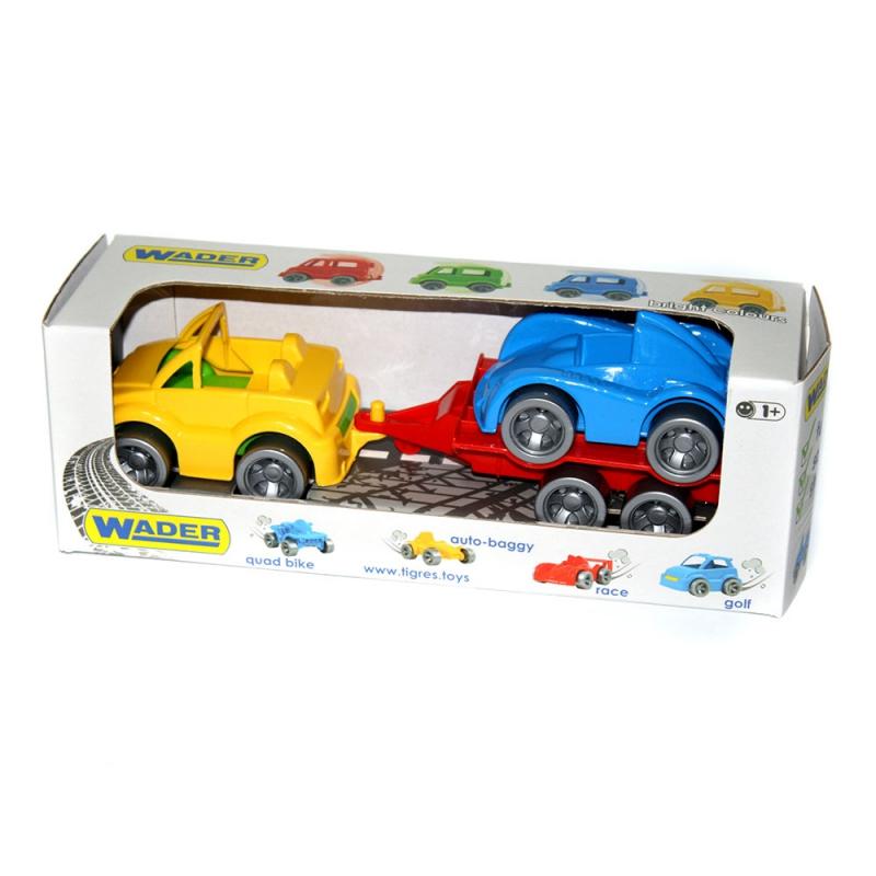 """Набор машинок TIGRES кабриолет, гоночная машина и прицеп (39542) купить в магазине """"Пустун"""""""