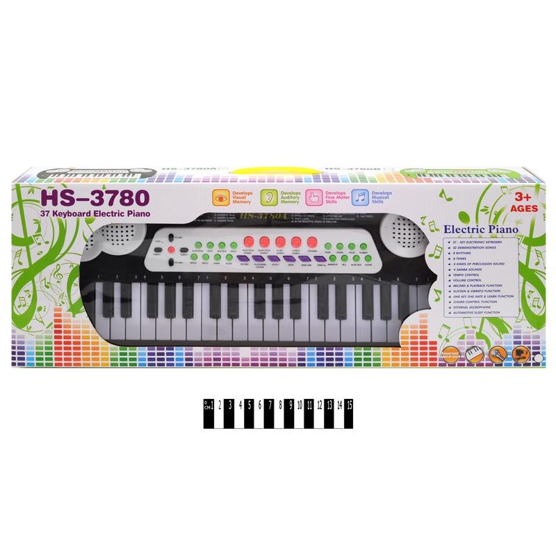 """Синтезатор с микрофоном Music 37 клавиш купить в магазине """"Пустун"""""""
