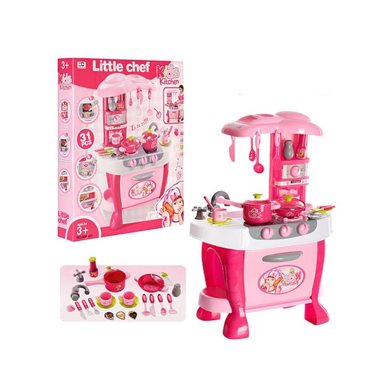 """Кухня с плитой и набором посуды """"Little chef"""" 008-801A купить в магазине """"Пустун"""""""