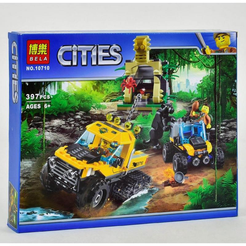 """Конструктор Cities: опасные джунгли, 397 деталей купить в магазине """"Пустун"""""""