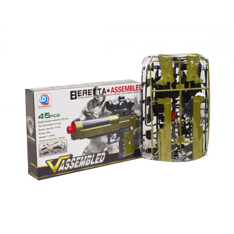 """Пистолет-конструктор Beretta, 45 деталей купить в магазине """"Пустун"""""""
