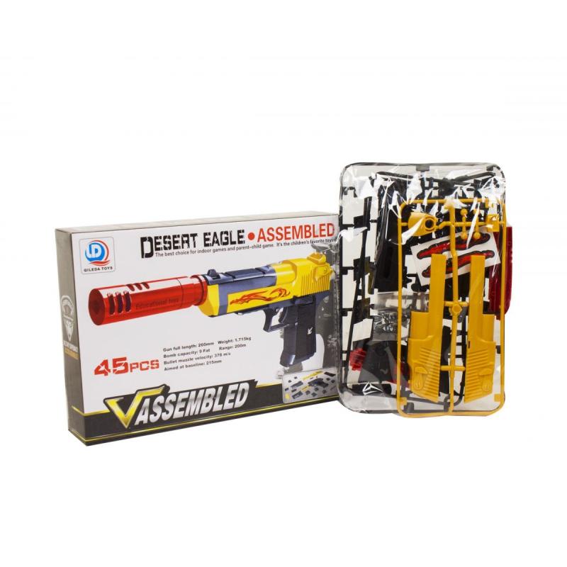 """Пистолет-конструктор Desert Eagle, 45 деталей купить в магазине """"Пустун"""""""