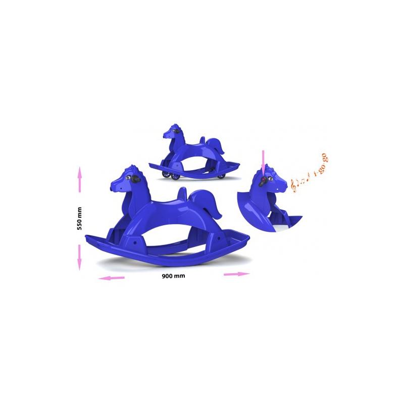 """Лошадка-качалка музыкальная (синяя) 05550/3 купить в магазине """"Пустун"""""""