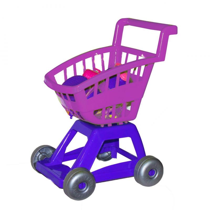 """Тележка с набором посуды (фиолетовая) KW-36-005 купить в магазине """"Пустун"""""""